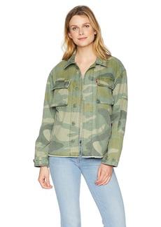 Levi's Women's Cotton Two Pocket High Low Shirt Jacket  M