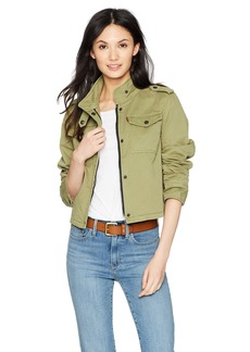 Levi's Women's Two-Pocket Cropped Cotton Trucker Jacket  Extra Small