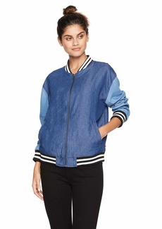 Levi's Women's Drop Shoulder Denim Bomber Jacket Color Block