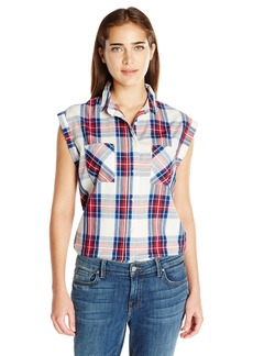 Levi's Women's Drop Shoulder Plaid Muscle Shirt