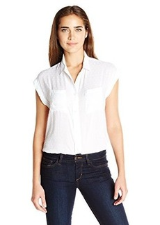 Levi's Women's Drop Shoulder Swiss Dot Muscle Shirt