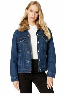 Levi's Women's Ex-Bf Fur Collar Trucke Jackets