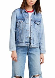Levi's Women's Premium Ex-Boyfriend Trucker Jacket For Real-Medium Indigo
