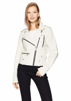 Levi's Women's Faux Leather Contemporary Motorcycle Jacket  M