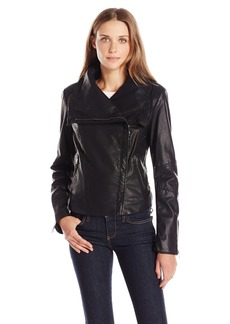 Levi's Women's Faux Leather Cowl Neck Assymetrical Jacket
