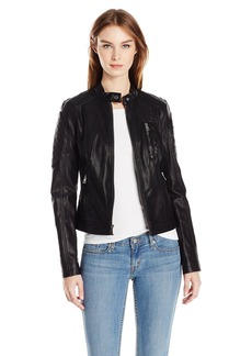 Levi's Women's Faux Leather Jacket Fashion Racer  XL