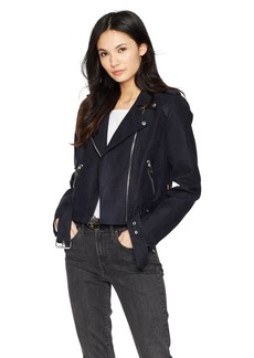 Levi's Women's Faux Suede Asymmetrical Belted Motorcycle Jacket