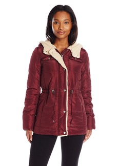 Levi's Women's Filled Four Pocket Box Quilted Hooded Parka