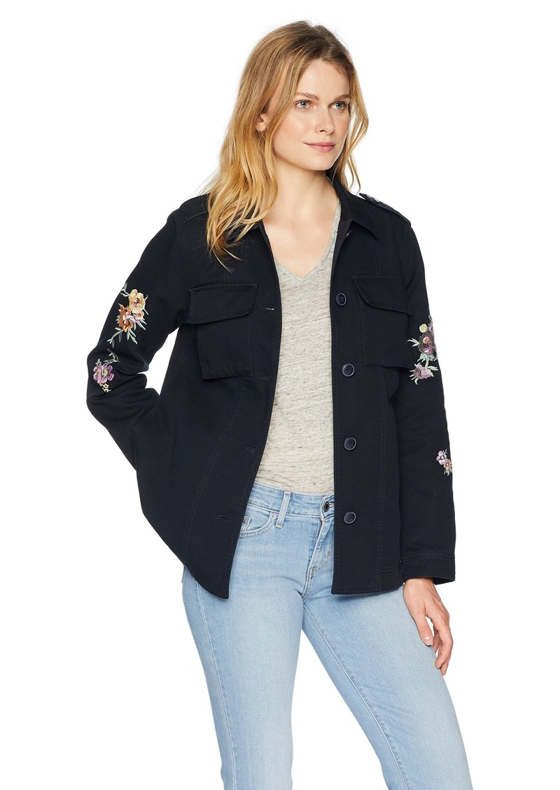 Levi's Women's Floral Embroidered Cotton Shirt Jacket  XL