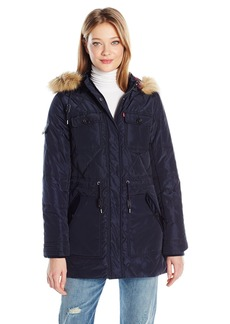 Levi's Women's Four Pocket Diamond Quilted Parka With Hood