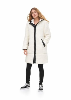 Levi's Women's Full Length Sherpa Quilted Parka Jacket