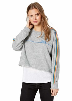 Levi's Women's Graphic Athletic Sweatshirt Crew with Detail Smokestack Heather
