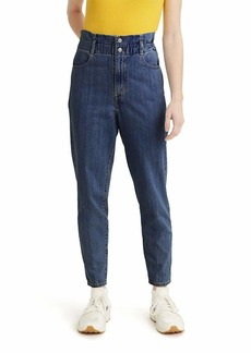 Levi's Women's High Waisted Paperbag Jeans Short fused  (US 12)