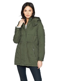 Levi's Women's Hooded Cotton Fishtail Anorak Jacket  Extra Small