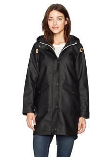 Levi's Women's Hooded Rubberized Faux Leather Anorak Jacket  Extra Large