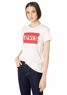 Levi's Women's Logo Trim Sweatshirt Lychee red