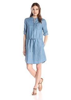 Levi's Women's Mandarin Collar Lyocell Dress  Stonewash