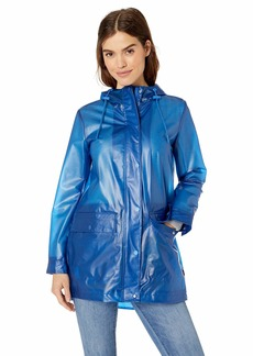 Levi's Women's Midlength Rubberized PU Swing Rain Parka Jacket