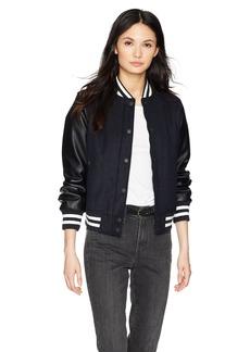 Levi's Women's Mixed Media Bomber Jacket  Extra Large