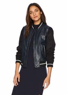 Levi's Women's Mixed Media Varisty Bomber Jacket (Standard & Plus Sizes)