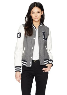 Levi's Women's Mixed Media Letterman Bomber Jacket