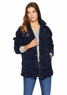 Levi's Women's Oversized Long Sherpa Trucker Jacket