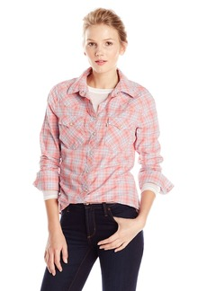 Levi's Women's Plaid Tailored Western Shirt