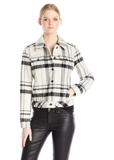 Levi's Women's Plaid Wool Trucker Jacket