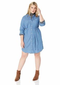 Levi's Women's Plus-Size Bebe Dress Medium Light wash
