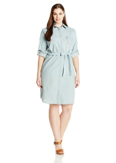 Levi's Women's Plus-Size Denim Shirt Dress  2X