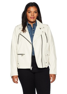 Levi's Women's Plus Size Faux Leather Contemporary Motorcycle Jacket