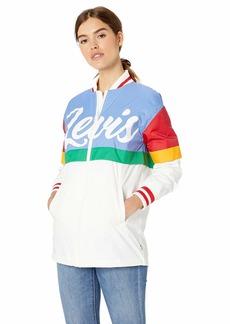 Levi's Women's Plus Size Lightweight Colorblocked Long Logo Bomber Jacket