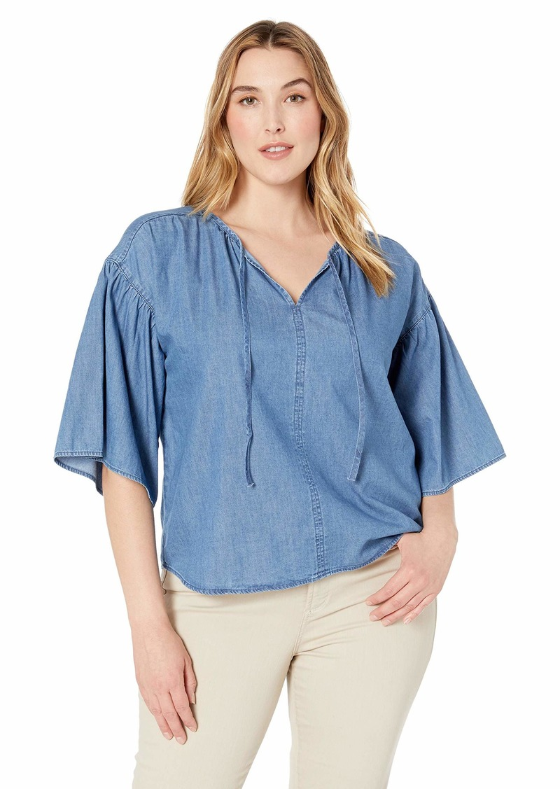Levi's Women's Plus-Size Meadow Top Dark mid wash
