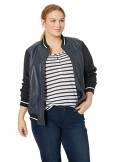 Levi's Women's Plus Size Mixed Media Bomber Jacket