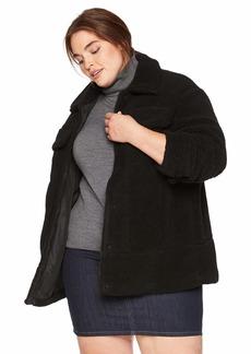 Levi's Women's Oversized Long Sherpa Trucker Jacket black