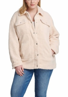 Levi's Women's Oversized Long Sherpa Trucker Jacket (Standard and Plus Sizes)