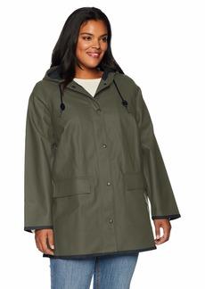 Levi's Women's Plus Size Rubberized Rain Jacket