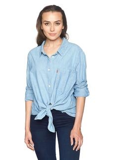Levi's Women's Plus Size Ryan 1 Pocket Boyfriend Shirt  3 X