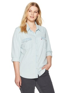 Levi's Women's Plus Size Western Shirt  2 X