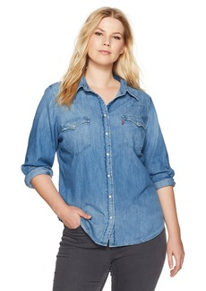 Levi's Women's Plus Size Western Shirt  3 X