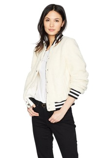 Levi's Women's Plush Sherpa Bomber Jacket with Contrast Trim  Extra Large