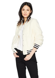 Levi's Women's Plush Sherpa Bomber Jacket with Contrast Trim  Extra Small