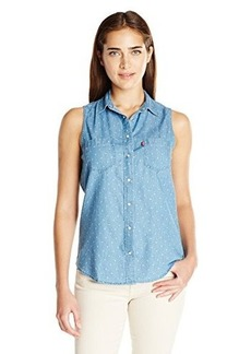 Levi's Women's Printed Chambray Sleeveless Shirt