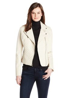 Levi's Women's Quilted Asymmetrical Faux Leather Motorcycle Jacket