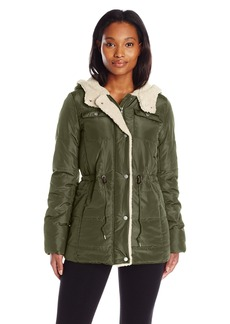 Levi's Women's Quilted Puffer Jacket with Sherpa Lining