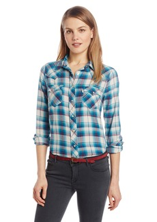 Levi's Women's Relaxed Western Plaid Shirt