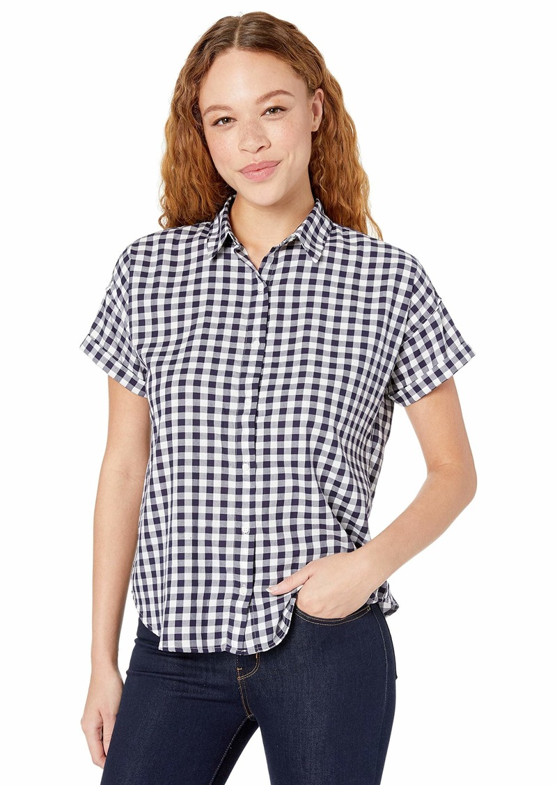 Levi's Women's Sadie Button Back Shirt Loveland sea Captain Blue