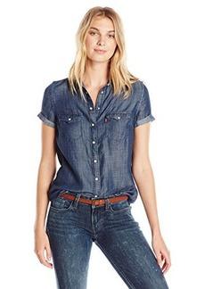 Levi's Women's Short Sleeve Western Shirt  Medium