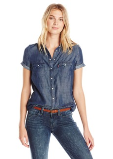 Levi's Women's Short Sleeve Western Shirt  Medium