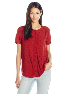 Levi's Women's Short Sleeve Woven Blouse  X-Large